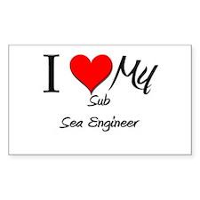I Heart My Sub Sea Engineer Rectangle Decal