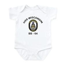 USS Wisconsin BB 64 Infant Bodysuit