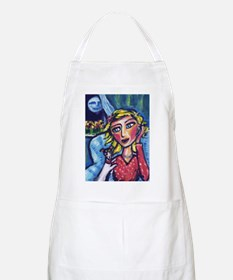 RAT TERRIER Cell phone lady BBQ Apron