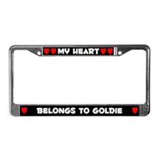 My Heart: Goldie (#001) License Plate Frame