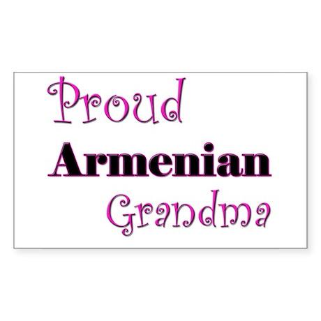 Proud Armenian Grandma Rectangle Sticker