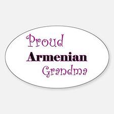 Proud Armenian Grandma Oval Decal