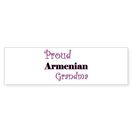 Proud Armenian Grandma Bumper Sticker