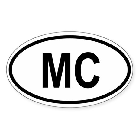 Monaco Oval Sticker