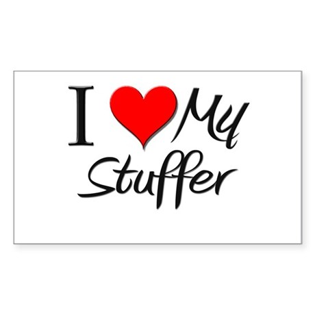 I Heart My Stuffer Rectangle Sticker