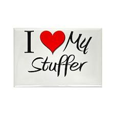 I Heart My Stuffer Rectangle Magnet