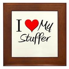 I Heart My Stuffer Framed Tile