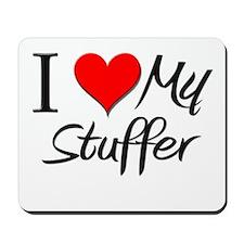 I Heart My Stuffer Mousepad