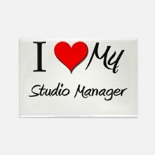 I Heart My Studio Manager Rectangle Magnet