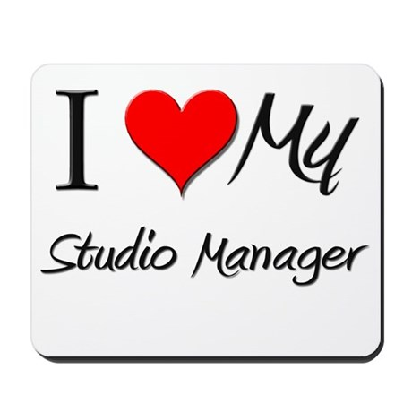 I Heart My Studio Manager Mousepad