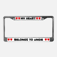 My Heart: Angie (#004) License Plate Frame