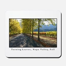 Turning Leaves, Napa Valley, Fall Mousepad
