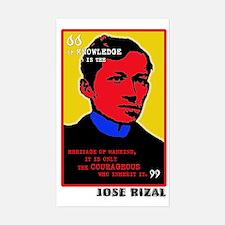 Courageous Rizal Rectangle Decal