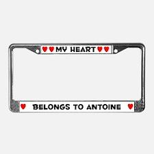 My Heart: Antoine (#004) License Plate Frame