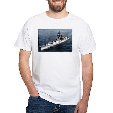 USS Missouri Ship's Image White T-Shirt