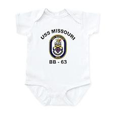 USS Missouri BB-63 Infant Bodysuit