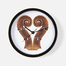 Violin Scroll Heart Wall Clock