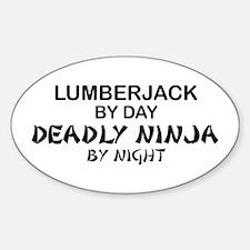 Lumberjack Deadly Ninja Oval Decal