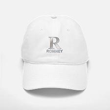 Silver R for Mitt Romney Baseball Baseball Cap