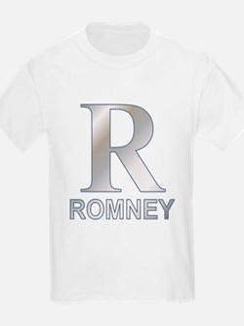 Silver R for Mitt Romney T-Shirt