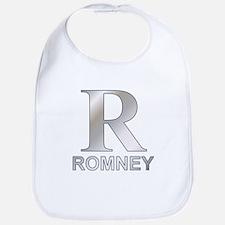 Silver R for Mitt Romney Bib