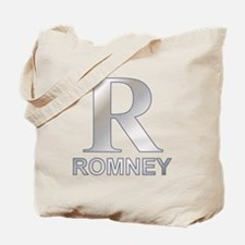 Silver R for Mitt Romney Tote Bag