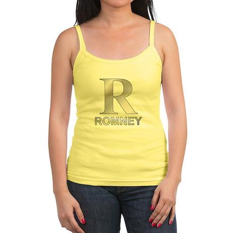 Silver R for Mitt Romney Jr. Spaghetti Tank