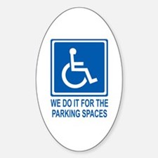 Handicapped Parking Oval Decal