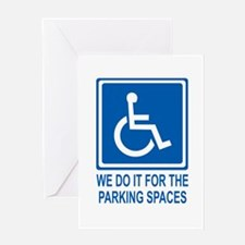 Handicapped Parking Greeting Card