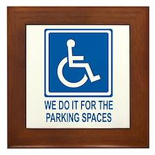 Handicapped Parking Framed Tile