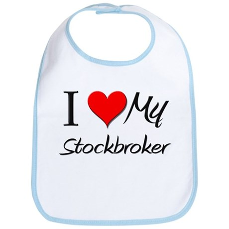 I Heart My Stockbroker Bib