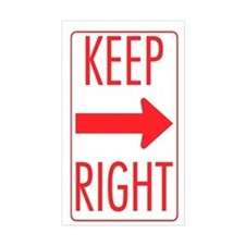 Keep Right Rectangle Decal