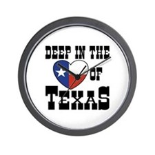 Deep in the Heart of Texas Wall Clock