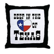 Deep in the Heart of Texas Throw Pillow