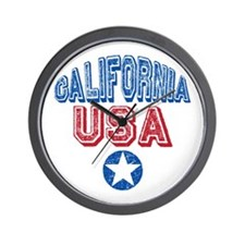 California USA State Retro Wall Clock