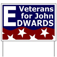 Veterans for John Edwards Yard Sign