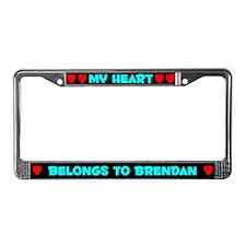 My Heart: Brendan (#003) License Plate Frame