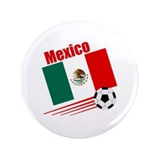 """Mexico Soccer Team 3.5"""" Button (100 pack)"""