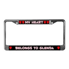 My Heart: Glenda (#002) License Plate Frame