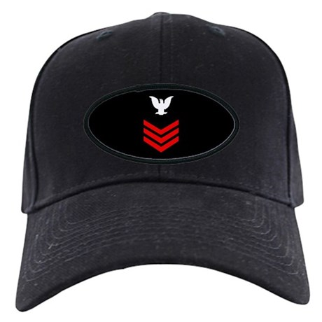 First Class Petty Officer Black Cap