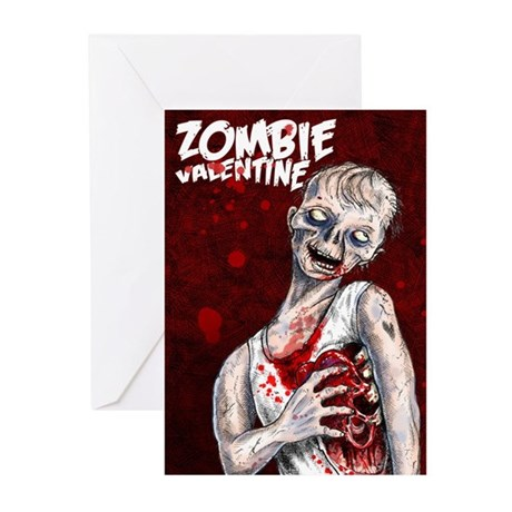 Zombie Valentine Greeting Cards 20 pack
