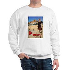 Vintage Snow Skiing - Skier Sweatshirt