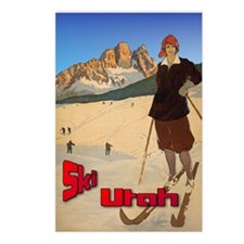 Vintage Snow Skiing - Skier Postcards (Package of