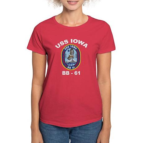 USS Iowa BB 61 Women's Dark T-Shirt