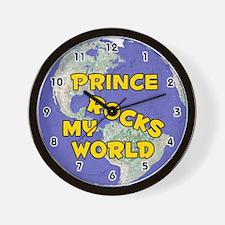 Prince Rocks My World (Gold) Wall Clock