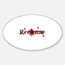 Rockstar Oval Decal