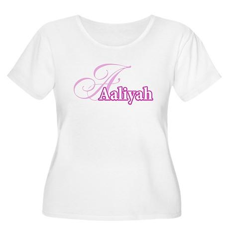 Aaliyah Women's Plus Size Scoop Neck T-Shirt