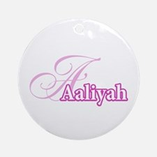 Aaliyah Ornament (Round)