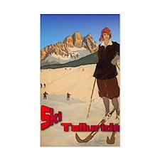 Vintage Ski Telluride Rectangle Decal