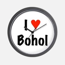 I love Bohol Wall Clock